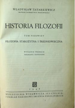 Historia filozofii tom pierwszy 1946 r