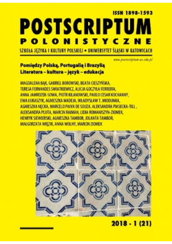Postscriptum polonistyczne Nr 1