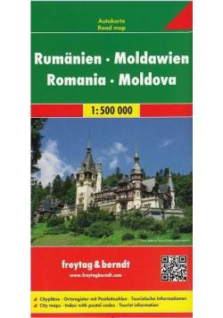 Mapa samochodowa - Rumunia, Mołdawia 1:500 000