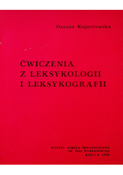 Ćwiczenia z leksykologii i leksykografii