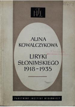 Liryka Słonimskiego 1918 1935