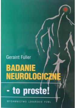 Badanie neurologiczne to proste