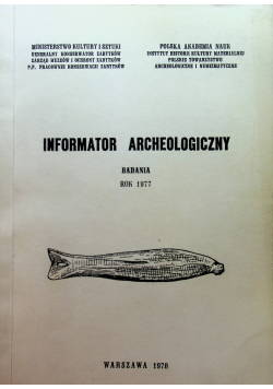 Informator Archeologiczny badania 1977