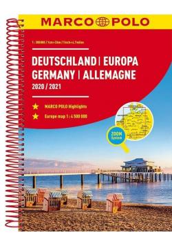Atlas ZOOM System. Niemcy 1:300 000 MARCO POLO