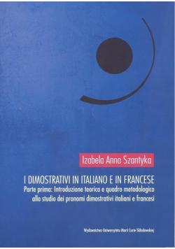 I dimostrativi in italiano e in francese