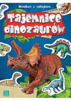 Minialbum z naklejkami. Tajemnice dinozaurów w.2