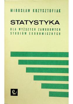 Statystyka dla wyższych zawodowych studiów ekonomicznych