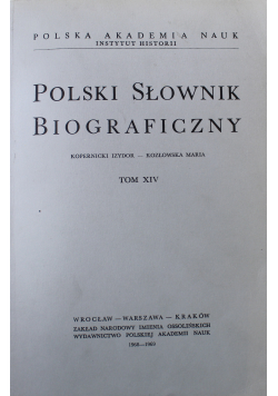 Polski słownik biograficzny Tom XIV