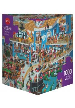 Puzzle 1000 Szalony Chaos w kasynie + plakat