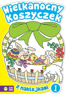 Wielkanocny koszyczek 1 z naklejkami