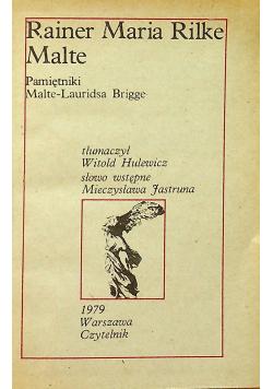 Pamiętnik Malte Lauridsa Brigge