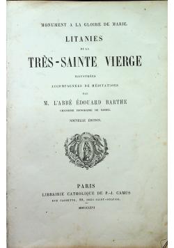 Litanies de la Tres Sainte Vierge 1866 r.