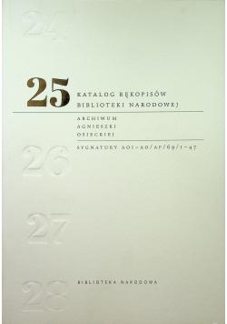 Katalog rękopisów Biblioteki Narodowej Tom 25