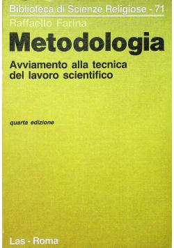 Metodologia avviamento alla tecnica del lavoro scientifico
