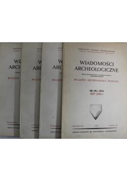 Wiadomości archeologiczne 4 zeszyty
