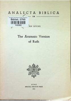 The Aramaic Version of Ruth
