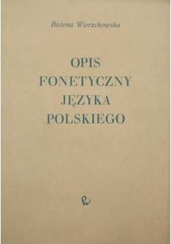Opis fonetyczny języka polskiego