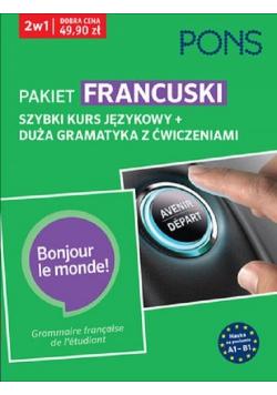 Szybki kurs i duża gramatyka Francuska A1-B1 PAK2