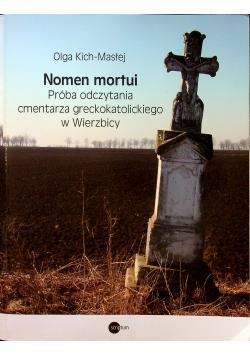 Nomen mortui Próba odczytania cmentarza greckokatolickiego w Wierzbicy