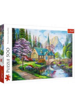 Puzzle 500 Leśne zacisze TREFL