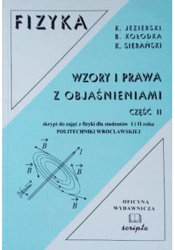 Fizyka Wzory i prawa z objaśnieniami Część II