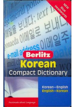 Korean Compact Dictionary Korean English English Korean