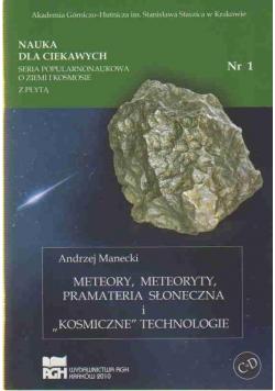 Meteory meteoryty prametria słoneczna i..