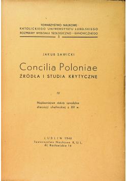 Concilia Poloniae źródła i studia krytyczne III 1949 r