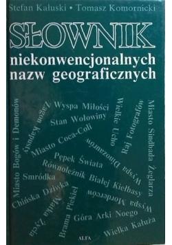 Słownik niekonwencjonalny nazw geograficznych plus dedykacja Komornickiego