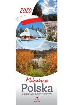 Kalendarz 2020 Pocztówkowy Malownicza Polska