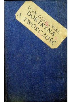 Doktryna a twórczość 1928 r