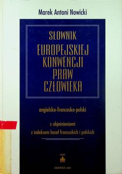 Słownik Europejskiej Konwencji Praw Człowieka