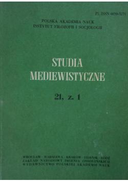 Studia Mediewistyczne 21 Zeszyt 1