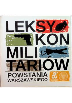 Leksykon militariów Powstania Warszawskiego