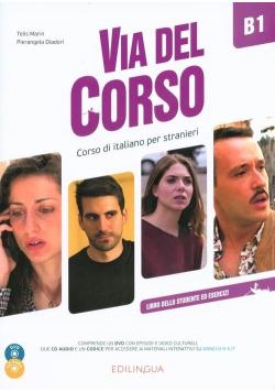 Via del Corso B1 podręcznik + 2CD + DVD EDILINGUA
