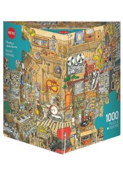 Puzzle 1000 Szalone studio muzyczne + plakat