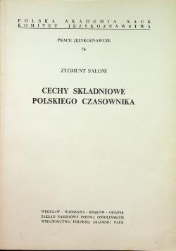 Cechy składniowe polskiego czasownika Dedykacja Saloni