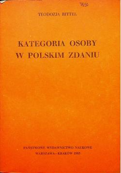 Kategoria osoby w polskim zdaniu