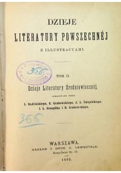 Dzieje Literatury Powszechnej Tom II 1883 r