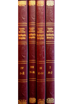 Encyklopedia staropolska tom od 1 do 4  reprint z 1939 r