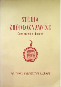 Studia źródłoznawcze Commentationes tom III