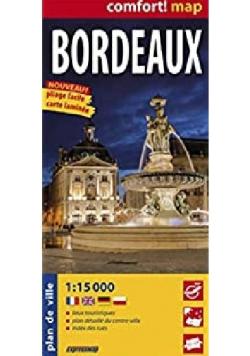 Bordeaux laminowany plan miasta 1 15 000