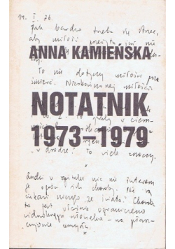 Notatnik 1973-1979