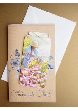 Karnet Życzenia + zakładka do książki + koperta