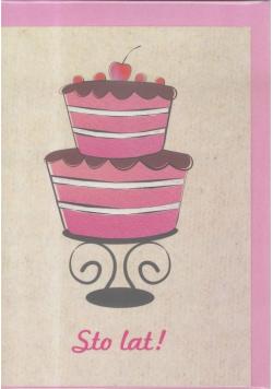 Karnet B6 Urodziny Tort
