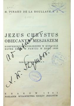 Jezus Chrystus Obiecanym Mesjaszem 1931r