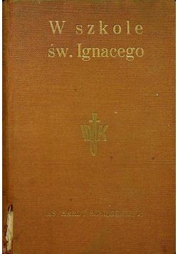 W szkole Świętego Ignacego 1934 r.