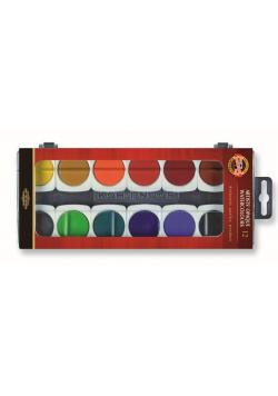 Farby akwarelowe kryjące 12 kolorów