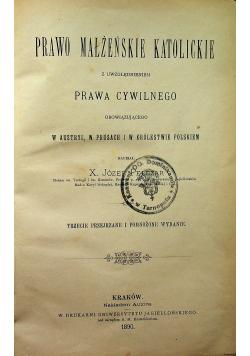 Prawo małżeńskie katolickie 1890 r.