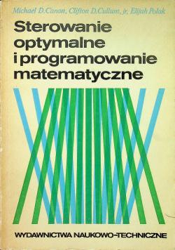 Sterowanie optymalne i programowanie matematyczne